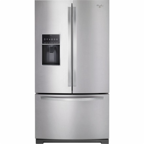 Whirlpool   31 Cu. Ft. French Door Refrigerator   Monochromatic Stainless  Steel | St. Louis Appliance Outlet