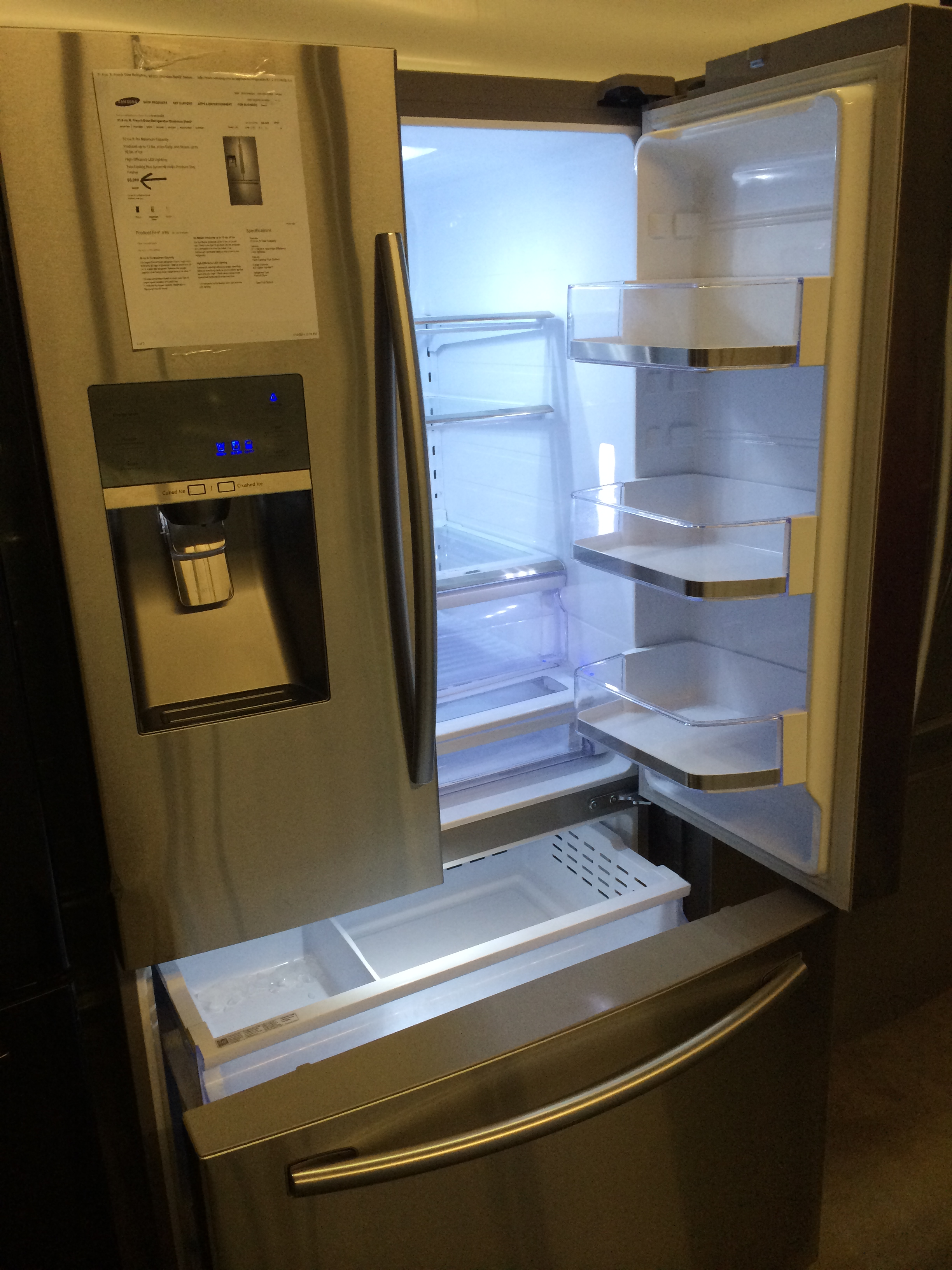 stainless door pl com ice fingerprint doors steel ft appliances refrigerator at french with whirlpool cu maker lowes shop refrigerators