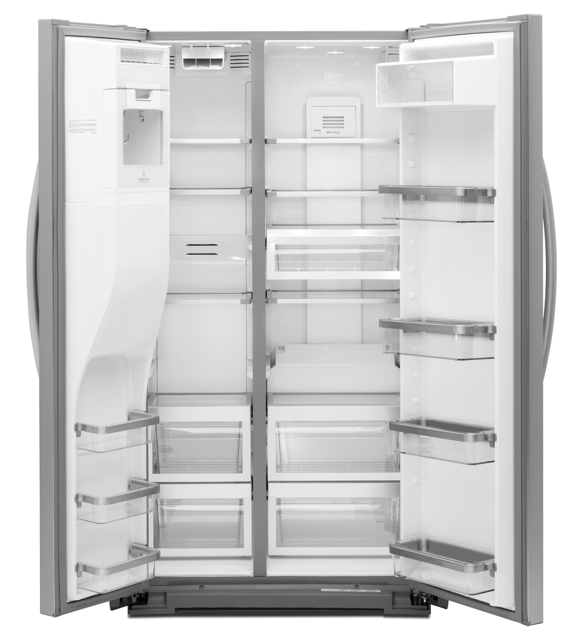 Shop Kitchenaid 24 8 Cu Ft Side By Side Refrigerator With: St. Louis Appliance Outlet