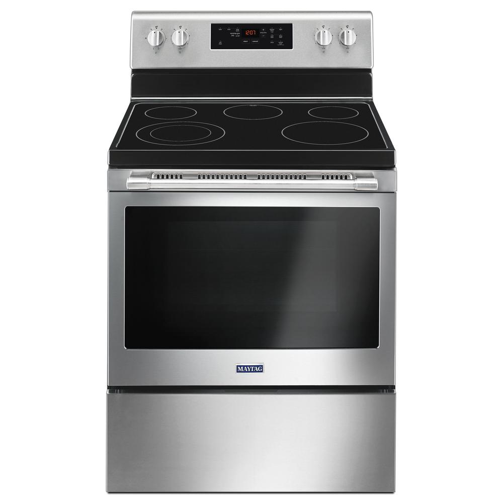 Maytag 30 Inch Wide Electric Range With Shatter Resistant
