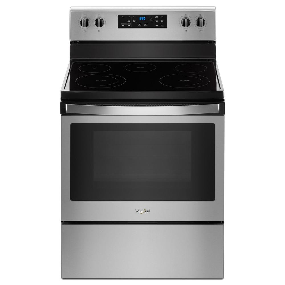 Whirlpool 5 3 Cu Ft Freestanding Electric Range With 5