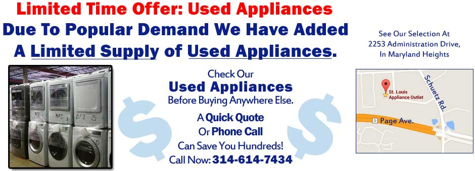 Used Appliances In St Louis From 125 St Louis Appliance Outlet