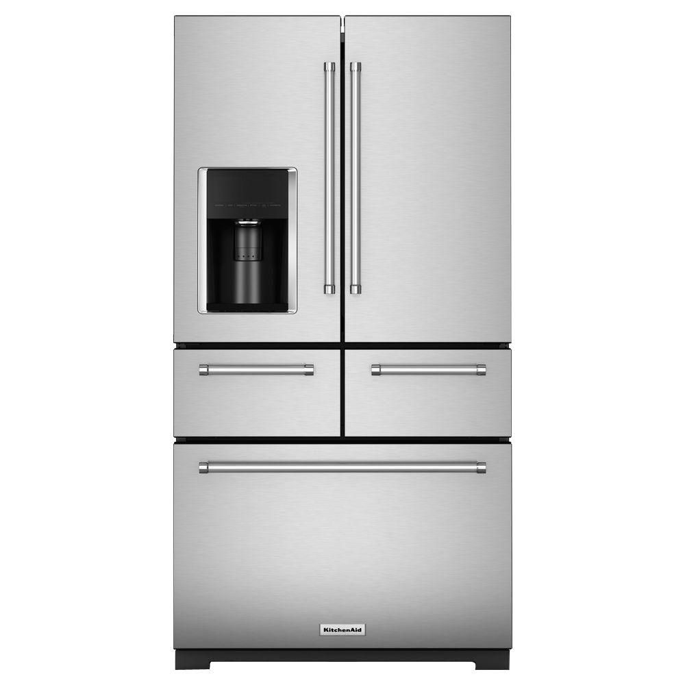 Kitchenaid Multi Door Freestanding Refrigerator Stainless Steel St Louis Liance Outlet