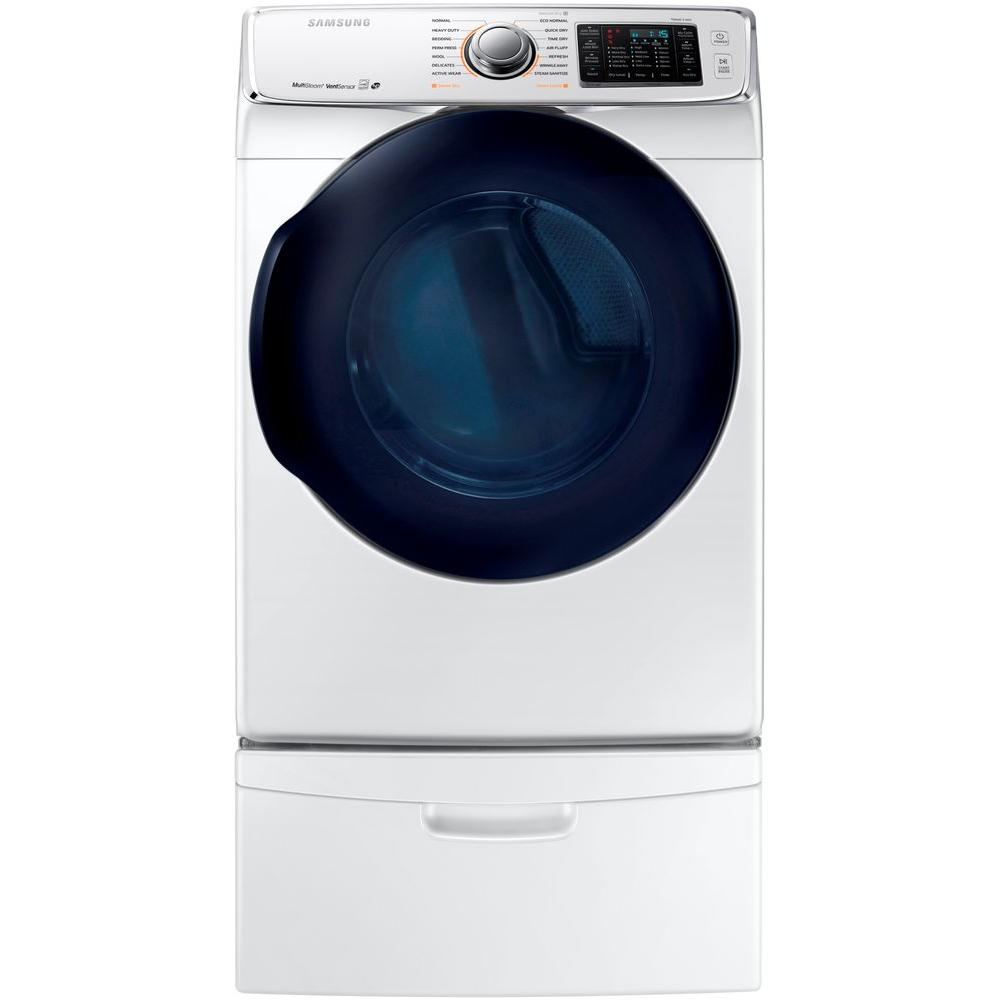 Samsung Front Loading Gas Dryer With Steam White St